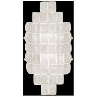 Fine Art Lamps Constructivism 2 Light Sconce in Silver Leaf 840650ST