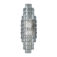Fine Art Lamps Constructivism 2 Light Wall Sconce in Silver Leaf 840850-1ST