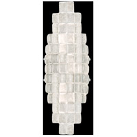 Fine Art Lamps Constructivism 2 Light Sconce in Silver Leaf 840850ST