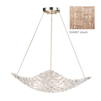 Fine Art Lamps Constructivism 3 Light Pendant in Gold Leaf 841040-2ST