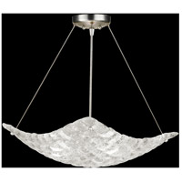 Fine Art Lamps Constructivism 3 Light Pendant in Silver Leaf 841040ST