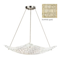 Fine Art Lamps Constructivism 3 Light Pendant in Gold Leaf 841240-2ST