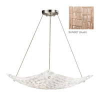 Fine Art Lamps Constructivism 3 Light Pendant in Silver Leaf 841240-3ST