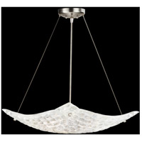 Fine Art Lamps Constructivism 3 Light Pendant in Silver Leaf 841240ST