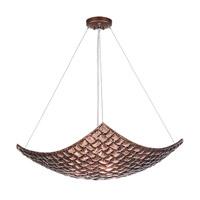 Fine Art Lamps Constructivism 3 Light Pendant in Hand Rubbed Bronze 841340-4ST