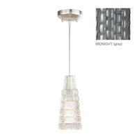 Fine Art Lamps Constructivism 1 Light Drop Light in Silver Leaf 841440-1ST