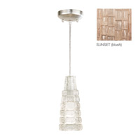 Fine Art Lamps Constructivism 1 Light Drop Light in Silver Leaf 841440-3ST
