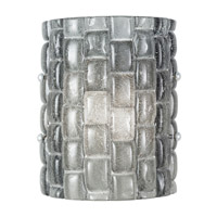 Fine Art Lamps Constructivism 1 Light Wall Sconce in Silver Leaf 842050-1ST