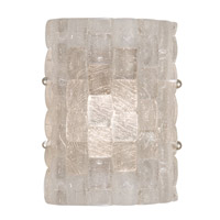 Fine Art Lamps Constructivism 1 Light Sconce in Silver Leaf 842050ST