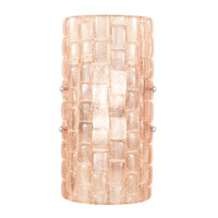 Fine Art Lamps Constructivism 2 Light Wall Sconce in Silver Leaf 842250-3ST