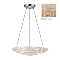 Fine Art Lamps Constructivism 3 Light Pendant in Silver Leaf 842840-3ST