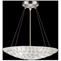 Fine Art Lamps Constructivism 3 Light Pendant in Silver Leaf 842840ST