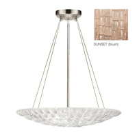Fine Art Lamps Constructivism 3 Light Pendant in Silver Leaf 843040-3ST