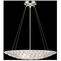 Fine Art Lamps Constructivism 3 Light Pendant in Silver Leaf 843240ST