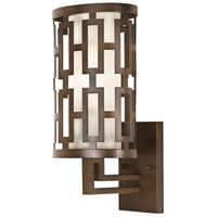 Fine Art Lamps River Oaks 1 Light Outdoor Wall Mount in Dark Bronze 843481ST