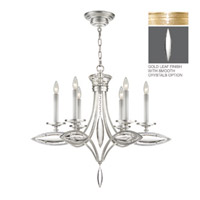 Fine Art Lamps Marquise 6 Light Chandelier in Florentine Brushed Gold Leaf 843540-21ST