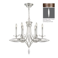 Fine Art Lamps Marquise 6 Light Chandelier in Antique Hand Rubbed Bronze 843540-31ST
