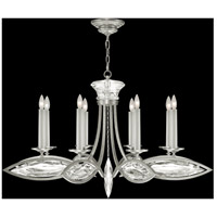 Fine Art Lamps Marquise 8 Light Chandelier in Platinized Silver Leaf 843940-12ST