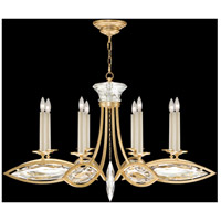 Marquise 8 Light 42 inch Florentine Brushed Gold Leaf Chandelier Ceiling Light