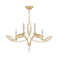 Fine Art Lamps Marquise 6 Light Chandelier in Florentine Brushed Gold Leaf 844040-22ST