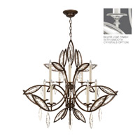 Fine Art Lamps Marquise 10 Light Chandelier in Platinized Silver Leaf 844140-11ST