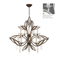 Fine Art Lamps Marquise 10 Light Chandelier in Platinized Silver Leaf 844140-12ST