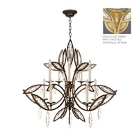 Marquise 10 Light 47 inch Florentine Brushed Gold Leaf Chandelier Ceiling Light