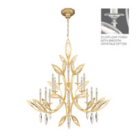 Fine Art Lamps Marquise 16 Light Chandelier in Platinized Silver Leaf 844240-11ST