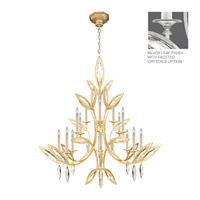 Fine Art Lamps Marquise 16 Light Chandelier in Platinized Silver Leaf 844240-12ST