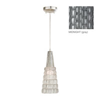 Fine Art Lamps Constructivism 1 Light Drop Light in Silver Leaf 845040-1ST