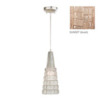 Fine Art Lamps Constructivism 1 Light Drop Light in Silver Leaf 845040-3ST