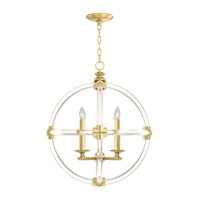 Grosvenor Square 4 Light 24 inch Antique Hand Rubbed Solid Brass Pendant Ceiling Light