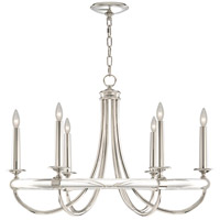 Fine Art Lamps 846140ST Grosvenor Square 6 Light 34 inch Silver Chandelier Ceiling Light
