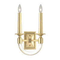 Grosvenor Square 2 Light 11 inch Antique Brass Wall Sconce Wall Light