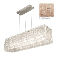 Fine Art Lamps Constructivism 5 Light Pendant in Silver Leaf 846740-3ST