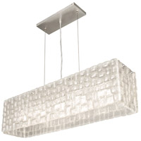 Fine Art Lamps Constructivism 5 Light Pendant in Silver Leaf 846740ST