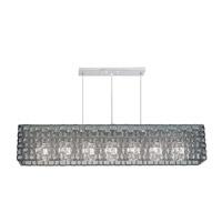 Fine Art Lamps Constructivism 7 Light Pendant in Silver Leaf 846840-1ST