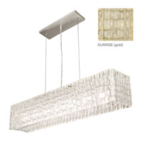 Fine Art Lamps Constructivism 7 Light Pendant in Gold Leaf 846840-2ST