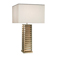 Recollections 26 inch 150 watt Gold Leaf Table Lamp Portable Light