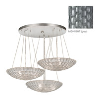 Fine Art Lamps Constructivism 9 Light Pendant in Silver Leaf 848240-1ST