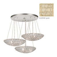 Constructivism 9 Light 29 inch Gold Leaf Pendant Ceiling Light