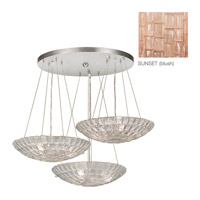 Fine Art Lamps Constructivism 9 Light Pendant in Silver Leaf 848240-3ST