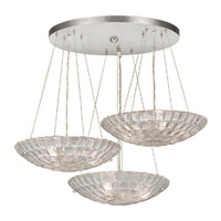 Fine Art Lamps Constructivism 9 Light Pendant in Silver Leaf 848240ST