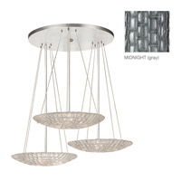Fine Art Lamps Constructivism 9 Light Pendant in Silver Leaf 848440-1ST