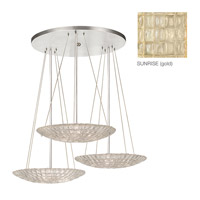 Constructivism 9 Light 37 inch Gold Leaf Pendant Ceiling Light