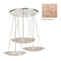 Fine Art Lamps Constructivism 9 Light Pendant in Silver Leaf 848440-3ST
