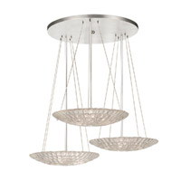 Fine Art Lamps Constructivism 9 Light Pendant in Silver Leaf 848440ST