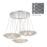 Fine Art Lamps Constructivism 9 Light Pendant in Silver Leaf 848640-1ST