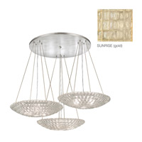 Constructivism 9 Light 45 inch Gold Leaf Pendant Ceiling Light