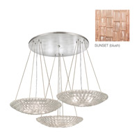 Fine Art Lamps Constructivism 9 Light Pendant in Silver Leaf 848640-3ST